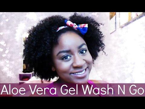 Natural Hair Tutorial | Aloe Vera Gel Wash N Go!