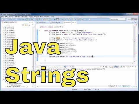Java Tutorial - 07 - Creating and Using Strings in Java