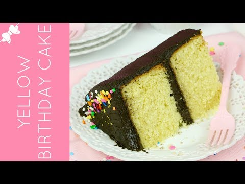 How To Make THE BEST Homemade Yellow Cake From Scratch with Chocolate Frosting  // Lindsay Ann Bakes