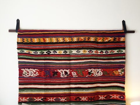 How to Hang a Rug | Hang a Tapestry | DIY Wall Hanging | DIY with Caitlin