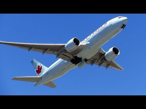 Air Canada 777 Take Off - Sydney to Vancouver - AC34