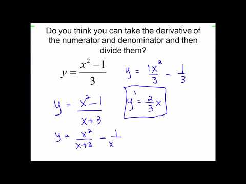 Finding derivative with product and quotient rule