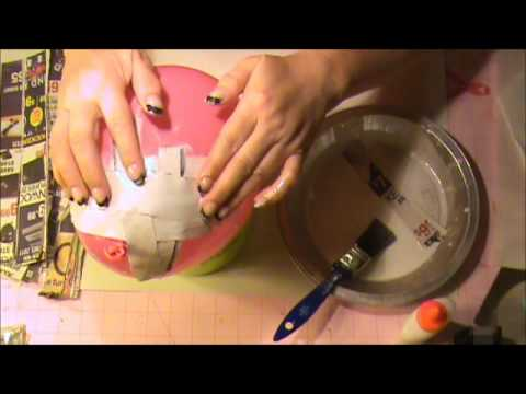 HOW TO MAKE A PAPER MACHE EASTER EGG PART 1