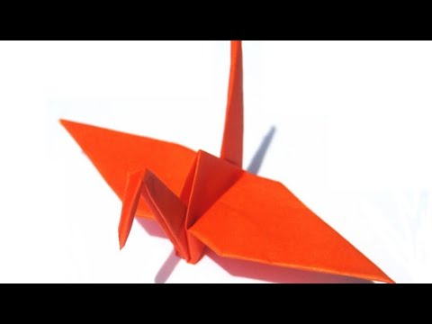 Origami crane_ how to make crane flapping birds,origami crane art