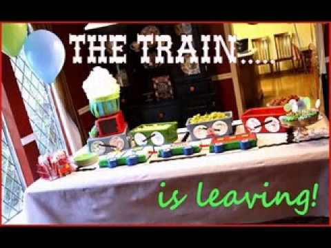 DIY train birthday party decorating ideas