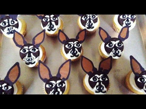 How to Make Chihuahua Puppy Dog Oreo Cookie Cupcakes