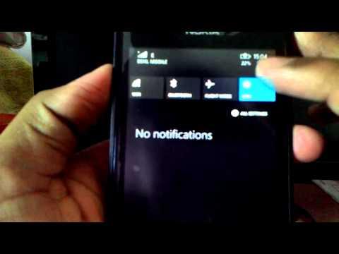 61) Nokia lumia 520 notification screen