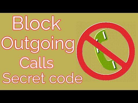 Block outgoing calls secret code