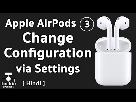 How to Change AirPods Configuration from iPhone/iPad Settings. HINDI