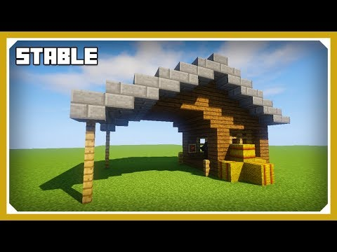 Minecraft: How To Build A Stable Tutorial (Easy Survival Minecraft Design)