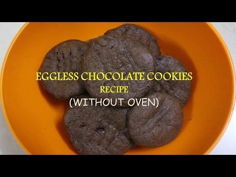 Eggless Chocolate Cookies Recipe | Without Oven