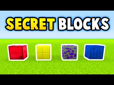 Minecraft 5 SECRET BLOCKS (Ps3/Xbox360/PS4/XboxOne/WiiU)