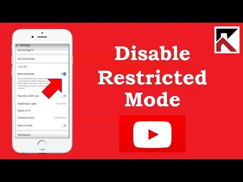 How To Disable Restricted Mode YouTube iPhone