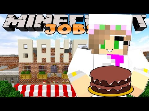 Minecraft Jobs-Little Kelly Adventures- WORKING IN A BAKERY!