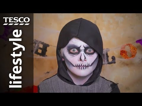 Halloween face-painting: Ghoul | Tesco