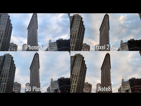 Camera Test: Galaxy S9 Plus vs iPhone X vs Pixel 2 XL vs Note8