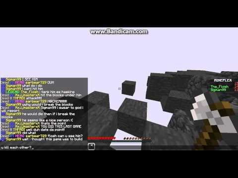 Minecraft Epic Spleef Battle! (Mineplex Trolling)