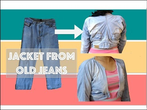 Upcycle old jeans : Jeans jacket from old jeans