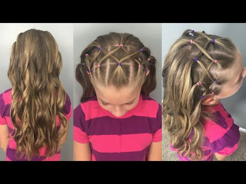 Woven Elastic Headband with Flat Iron Curls || Back to School Hairstyle