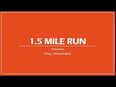 HS245 - 1.5 Mile Run Test