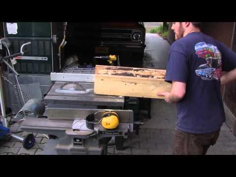 DIY Log Resaw on Table Saw