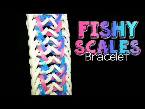 FISHY SCALES Hook Only Rainbow Loom Bracelet Tutorial