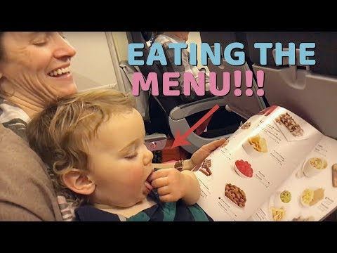 TRYING TO EAT THE MENU !!!