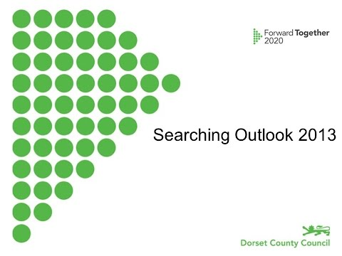 Searching Outlook 2013