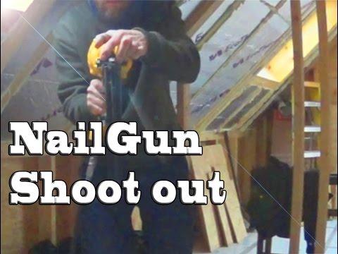 Nail Gun Shoot Out slow-mo