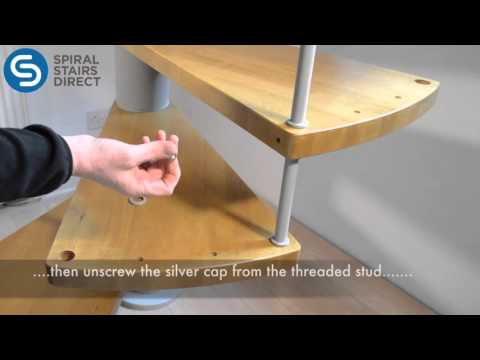 Artemis Spiral Staircase - How to assemble the balustrade spindles