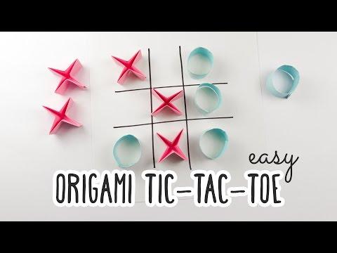 Easy Origami Tic-Tac-Toe Game Tutorial ♥︎ DIY ♥︎ Paper Kawaii