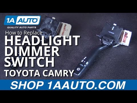 How to Replace Install Headlight Dimmer Switch (Without Fog lights)  97-01 Toyota Camry