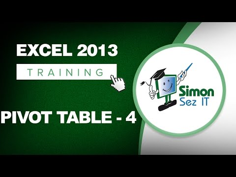 Working with Pivot Tables in Excel 2013 - Part 4 - Learn Excel Training Tutorial