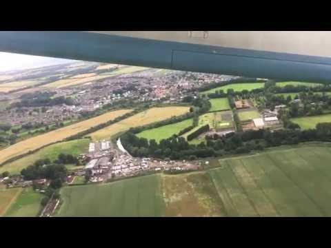 Flybe Dash 8Q-400 Takeoff Edinburgh - Belfast City