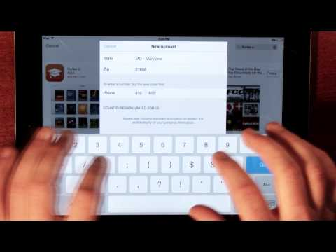 Make an Apple ID without a credit card right from the app store