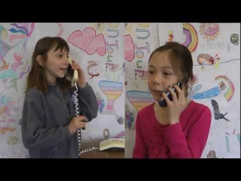 Les conversations au téléphone children learning to speak French Monsieur Zimmerman