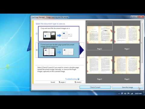 Scanning Books: How to Perform Book Correction With The ScanSnap SV600