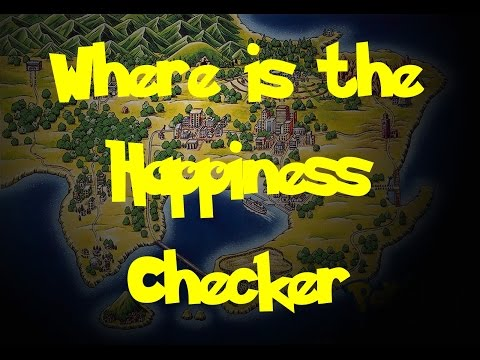 Where Is: The Happiness Checker (Pokemon Fire Red/Leaf Green)