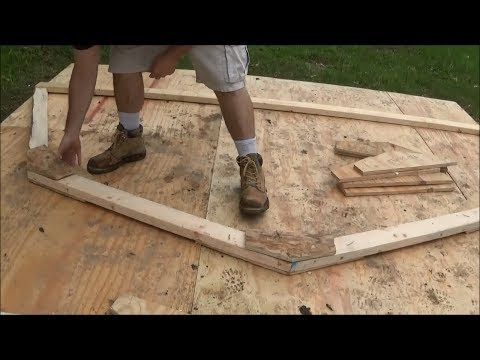 How to cut gussets for gambrel roof for 10x12 shed FAST using a miter saw