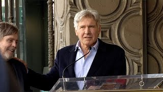 Harrison Ford Speech at Mark Hamill's Hollywood Walk of Fame Star Unveiling
