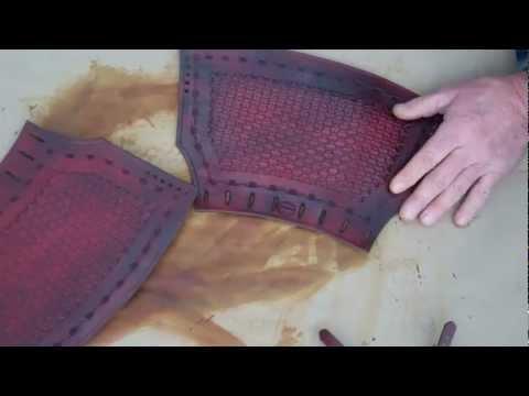 Demo on Making Cowboy Leather Wrist Cuffs