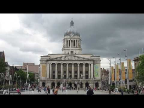 Nottingham, Nottinghamshire, England UK TRAVEL VIDEO