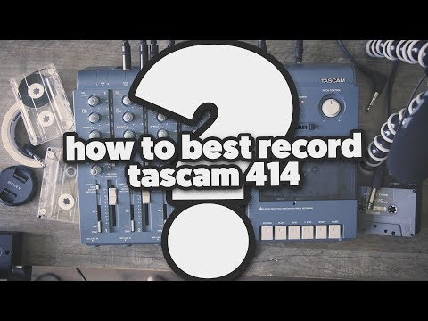 How to best record the Tascam 414? (4 tracks simultaneous)