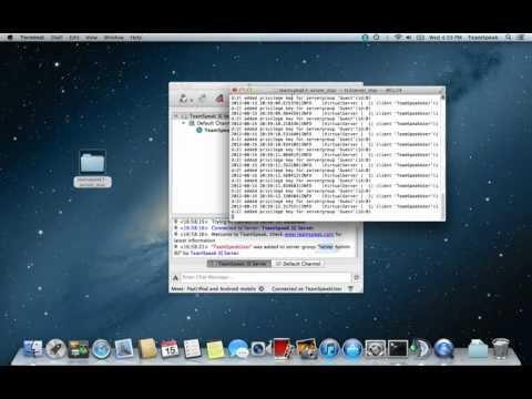 TeamSpeak 3 Mac OS X server configuration.