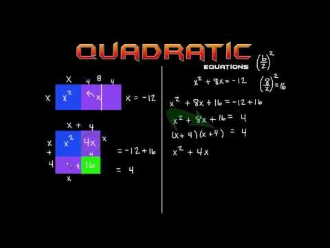 Solving Quadratic Equations By Completing The Square: The EASY way!