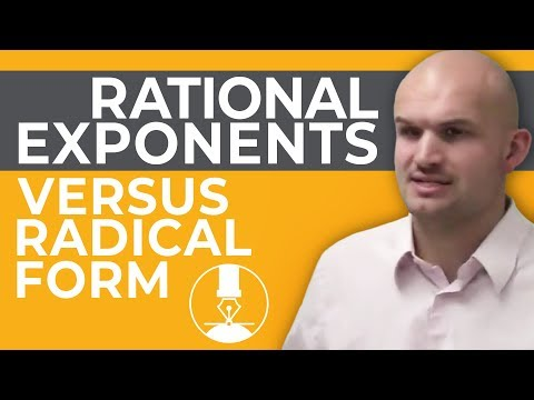 How do we convert between rational exponents and radical form