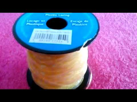 Using plastic lacing to make bracelets😱😁☺