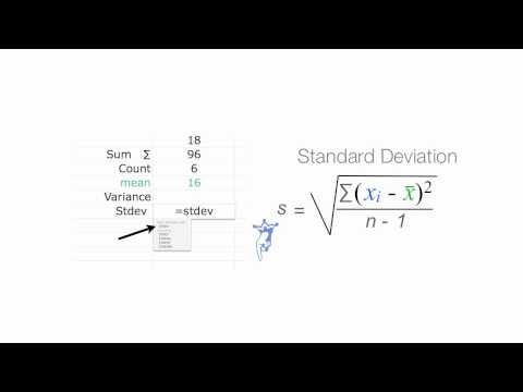 Calculating Standard Deviation Using Excel