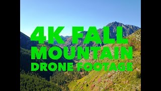 4K RELAXING FALL MOUNTAIN DRONE FOOTAGE