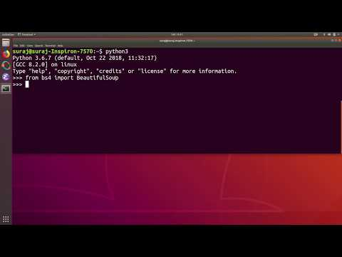How to Install Python3 BeautifulSoup4 Library in Ubuntu Linux
